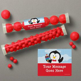 Penguin Personalized Candy Tubes (12 Count)