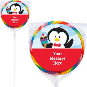 Penguin Personalized Lollipops (12 Pack)