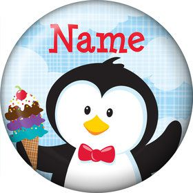 Penguin Personalized Mini Button (Each)