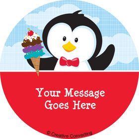 Penguin Personalized Mini Stickers (Sheet of 20)