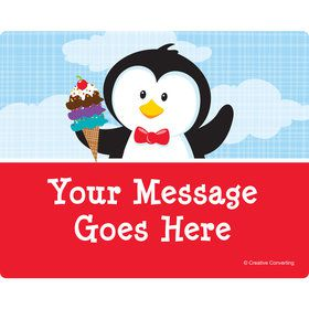 Penguin Personalized Rectangular Stickers (Sheet of 15)