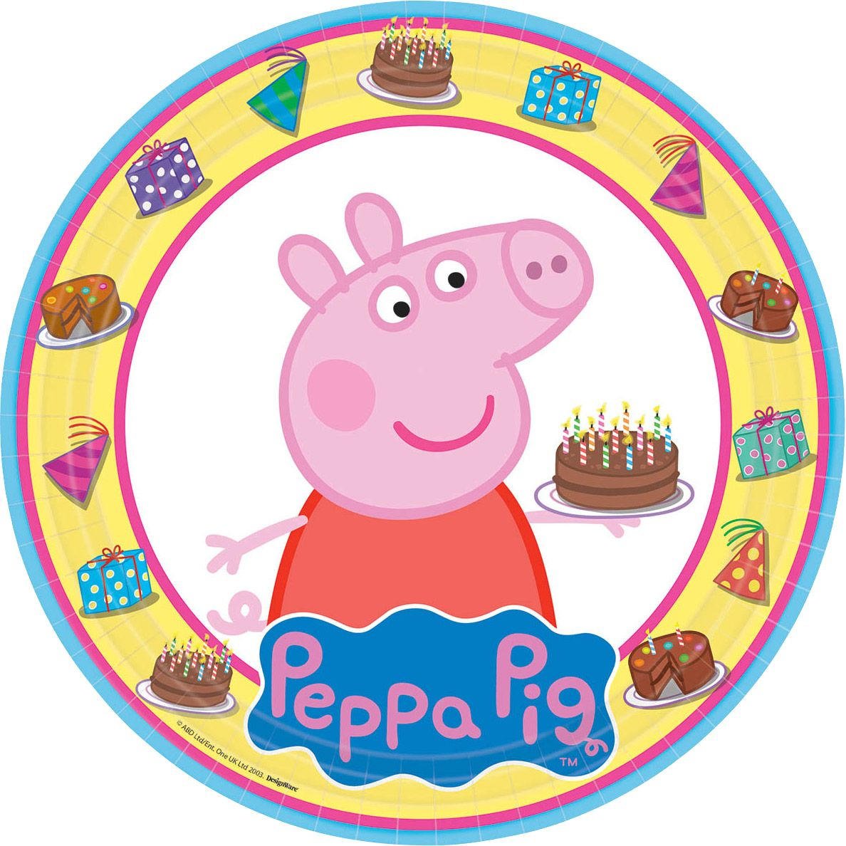 "Peppa Pig 9"" Luncheon Plate (8 Pack) BB551499"