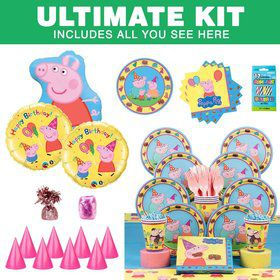 Peppa Pig Birthday Party Ultimate Tableware Kit Serves 8