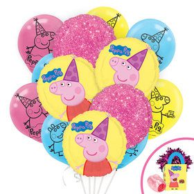 Peppa Pig Deluxe Balloon Bouquet Kit