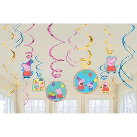 Peppa Pig Hanging Swirl Value Pack (12 Pieces)
