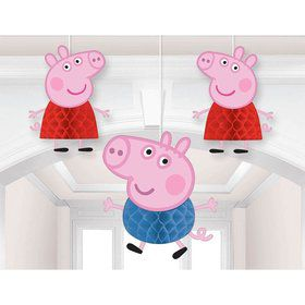 Peppa Pig Honeycomb Decoration (3 Pieces)