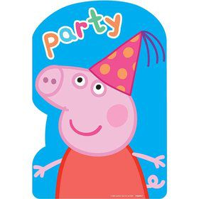 Peppa Pig Invitations (8 Count)