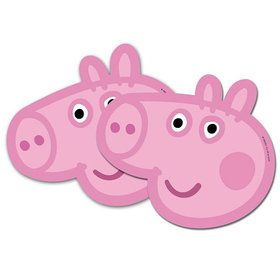 Peppa Pig Masks (6 Pack)