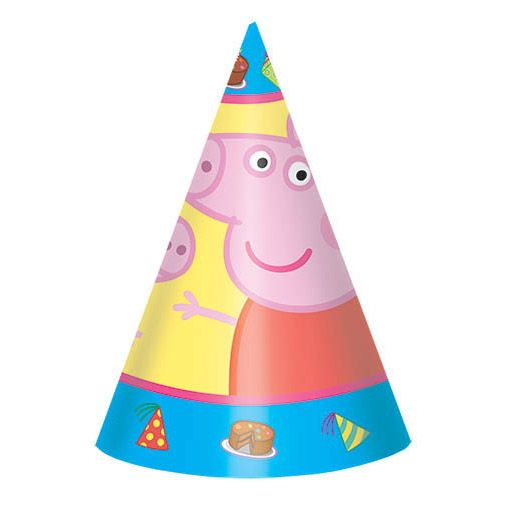 Peppa Pig Party Hats (8 Pack) BB251499