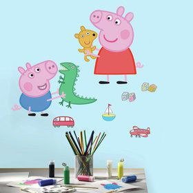 Peppa Pig Playtime Giant Wall Decals (8 Pieces)
