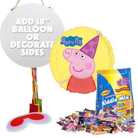Peppa Pig Pull String Pinata Kit