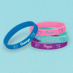 Peppa Pig Rubber Bracelet (4 Pack)