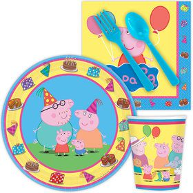 Peppa Pig Standard Birthday Tableware Kit Serves 8