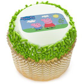 "Peppa Pig Sunny Days 2"" Edible Cupcake Topper (12 Images)"