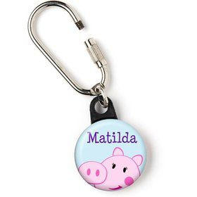 "Peppy Pig Personalized 1"" Carabiner (Each)"