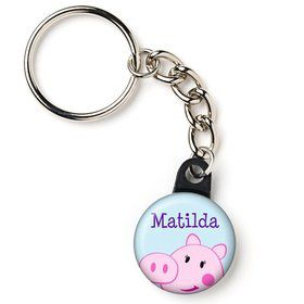 "Peppy Pig Personalized 1"" Mini Key Chain (Each)"
