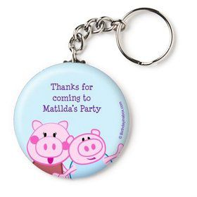 "Peppy Pig Personalized 2.25"" Key Chain (Each)"