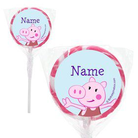 "Peppy Pig Personalized 2"" Lollipops (20 pack)"