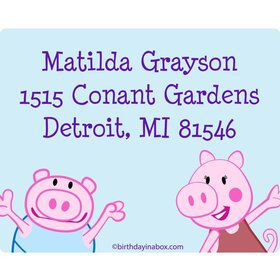 Peppy Pig Personalized Address Labels (Sheet of 15)