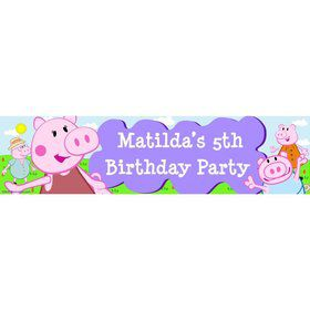 Peppy Pig Personalized Banner (Each)