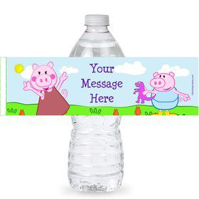 Peppy Pig Personalized Bottle Labels (Sheet of 4)