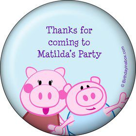 Peppy Pig Personalized Button (Each)