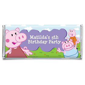 Peppy Pig Personalized Candy Bar Wrapper (Each)