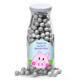 Peppy Pig Personalized Glass Milk Bottles (10 Count)