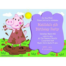 Peppy Pig Personalized Invitation (Each)