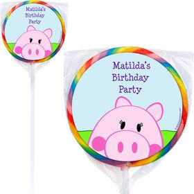 Peppy Pig Personalized Lollipops (12 Pack)