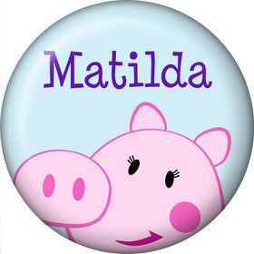 Peppy Pig Personalized Mini Button (Each)