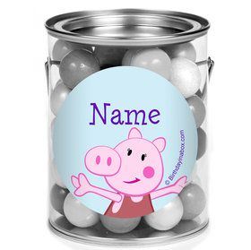 Peppy Pig Personalized Mini Paint Cans (12 Count)