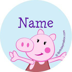 Peppy Pig Personalized Mini Stickers (Sheet of 20)