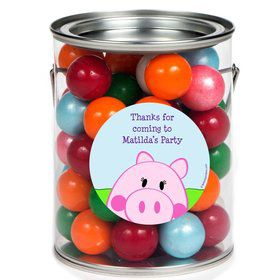 Peppy Pig Personalized Paint Can Favor Container (6 Pack)