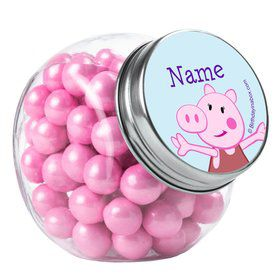Peppy Pig Personalized Plain Glass Jars (10 Count)