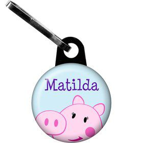 Peppy Pig Personalized Zipper Pull (Each)