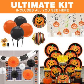 Perfect Pumpkin Halloween Ultimate Tableware Kit (Serves 8)