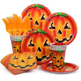 Perfect Pumpkin Party Standard Tableware Kit Serves 8