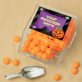 Perfect Pumpkin Personalized Candy Bin with Candy Scoop (10 Count)