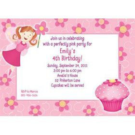Perfectly Pink Personalized Invitation (each)