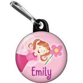 Perfectly Pink Personalized Mini Zipper Pull (each)