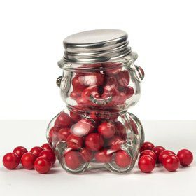 Perfectly Plain Glass Teddy Bear Jar