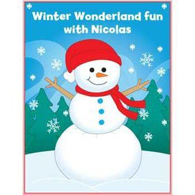 Personalized Winter Coloring Book (each)