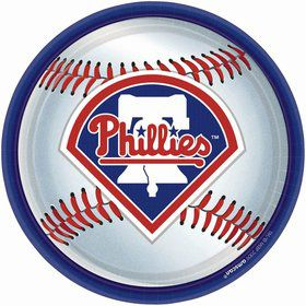 "Phillies Plates, 9"" (18 Pack)"