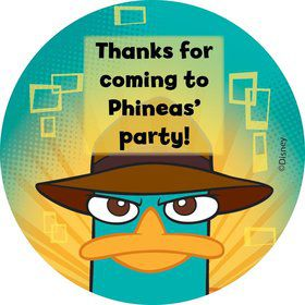 Phineas And Ferb Personalized Sticker (Sheet Of 12)
