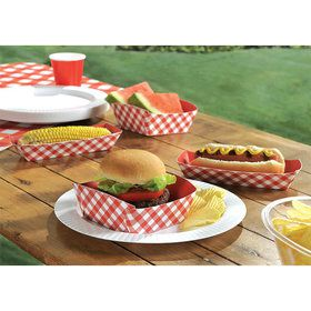 Picnic Party Food Trays (16 Pack)