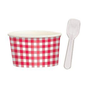 Picnic Party Treat Cups and Spoons (16 Pack)