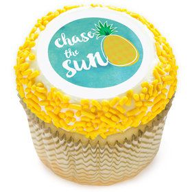 "Pineapple 2"" Edible Cupcake Topper (12 Images)"