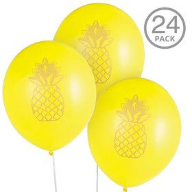 Pineapple Latex Balloons (24 Pieces)