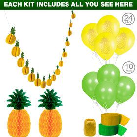 Pineapple Party Decoration Kit